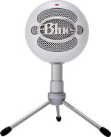 Silver standing snowball microphone